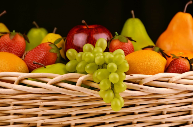 What Are the Five Food Groups? A basket is full of fruit.